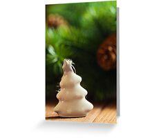 Christmas small fir shape decoration Greeting Card