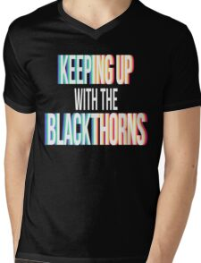 Keeping Up With The Blackthorns (White) Mens V-Neck T-Shirt