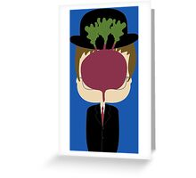 DWIGHT MAGRITTE SCHRUTE Greeting Card