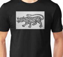 Tiger Mono Black and White Unisex T-Shirt