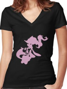 Popplio Evolution Women's Fitted V-Neck T-Shirt