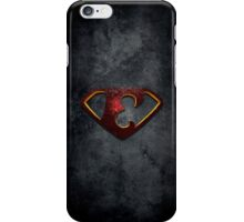 """The Letter E in the Style of """"Man of Steel"""" iPhone Case/Skin"""
