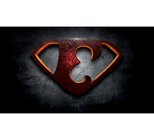 """The Letter E in the Style of """"Man of Steel"""" Photographic Print"""