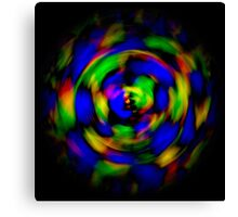 Digitally enhanced image abstract twirl background Canvas Print