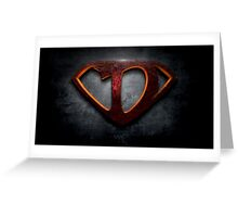 """The Letter D in the Style of """"Man of Steel"""" Greeting Card"""