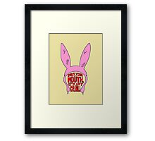 Shut Your Mouth It's Art Crawl Framed Print