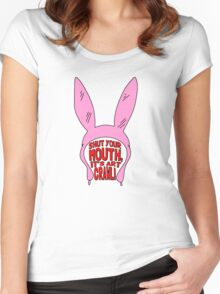 Shut Your Mouth It's Art Crawl Women's Fitted Scoop T-Shirt