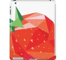 Strawberry Low-poly  iPad Case/Skin
