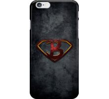 """The Letter B in the Style of """"Man of Steel"""" iPhone Case/Skin"""