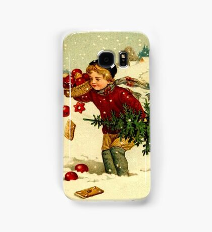 CHRISTMAS; Vintage Country Scene Print Samsung Galaxy Case/Skin