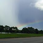 Rain Clouds and a Rainbow in South-East Florida   by BCallahan