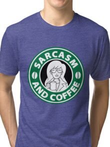 Sarcasm and Coffee Tri-blend T-Shirt