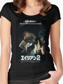 Aliens Japan Poster Women's Fitted Scoop T-Shirt