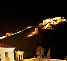 Palamidi by night, Nafplio, Greece by panosmix