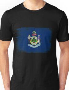 Maine State Flag Distressed Vintage  Unisex T-Shirt