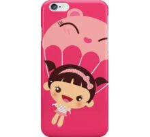 Pink Kawaii girl illustration iPhone Case/Skin