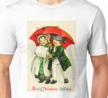 CHRISTMAS VINTAGE; Young Couple Walking Print Unisex T-Shirt