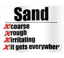 Why Anakin hates sand. Poster