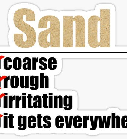 Why Anakin hates sand. Sticker