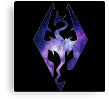 Blended Galaxy Seal of Akatosh Canvas Print