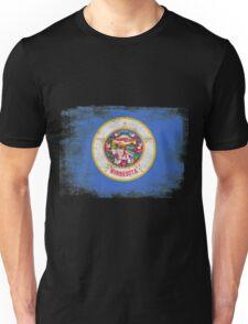 Minnesota State Flag Distressed Vintage Unisex T-Shirt