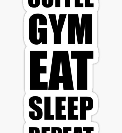 Coffee Gym Work Eat Sleep Repeat Sticker