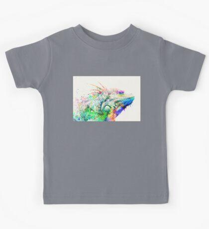 Watercolor reptile Kids Tee