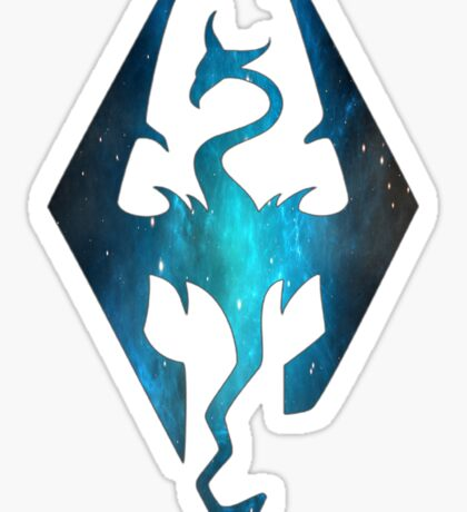 Blue Galaxy Seal of Akatosh Sticker