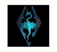 Blue Galaxy Seal of Akatosh Art Print