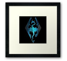 Blue Galaxy Seal of Akatosh Framed Print