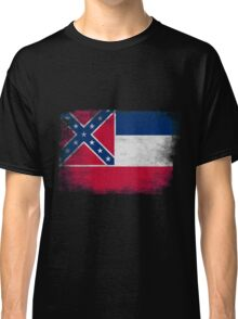 Mississippi State Flag Distressed Vintage Classic T-Shirt