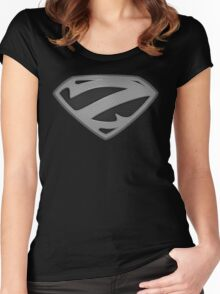 "The Letter Z in the Style of ""Man of Steel"" Women's Fitted Scoop T-Shirt"