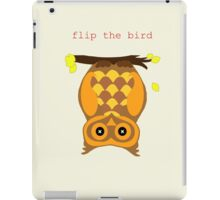 flip the bird iPad Case/Skin