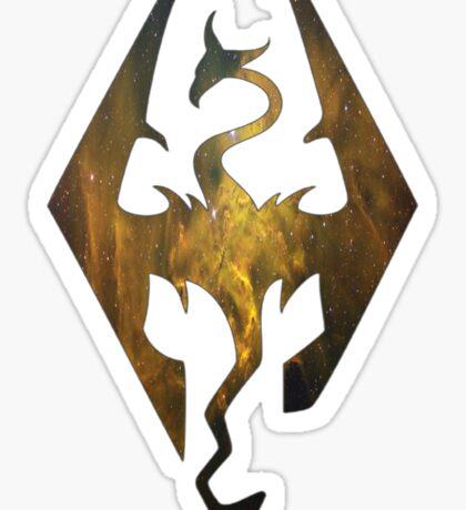 Gold Galaxy Seal of Akatosh 1 Sticker