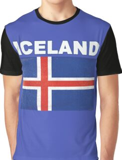 HD Distressed Iceland Flag Design Graphic T-Shirt