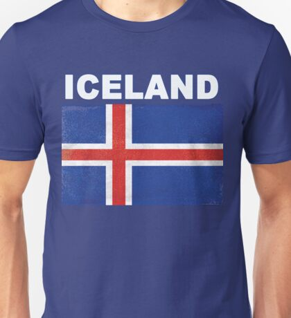HD Distressed Iceland Flag Design Unisex T-Shirt