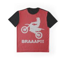 Motorcycle Braaap Christmas Ugly Sweater Graphic T-Shirt