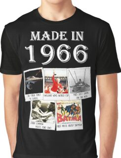 Made in 1966, main historical events Graphic T-Shirt