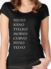 The names of the seven sons Women's Fitted Scoop T-Shirt