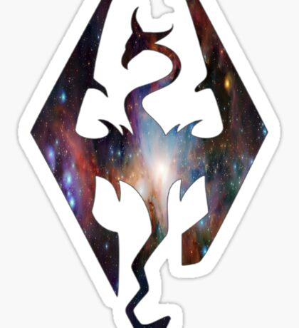 Rainbow Galaxy Seal of Akatosh Sticker