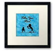 Follow Your Heart - watercolor background Framed Print