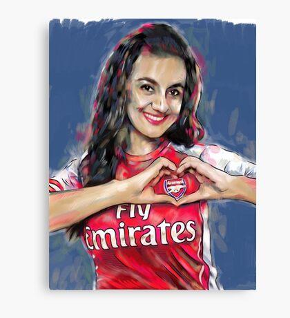 Arsenal Goonerette Canvas Print