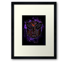 Autobots Abstractness Framed Print