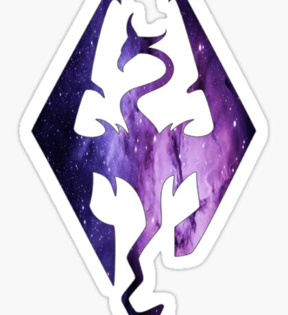 Pink Purple Galaxy Seal of Akatosh Sticker