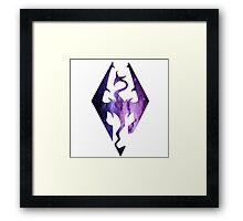 Pink Purple Galaxy Seal of Akatosh Framed Print