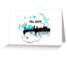 Art skyline of the Mediterranean Sea, Tel Aviv, Israel  Greeting Card