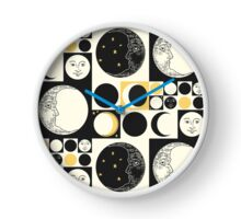 Mod Style Op Art Phases of the Moon Clock