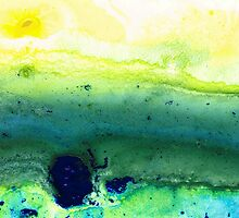 Green Abstract Art - Life Song - By Sharon Cummings by Sharon Cummings