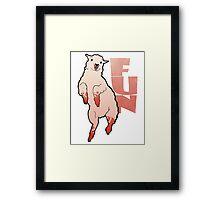 Funny Lamb Framed Print