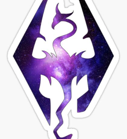 Purple Galaxy Seal of Akatosh Sticker
